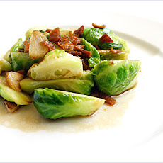 Stir-fried Brussels Sprout with Dried Sole