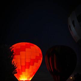 Balloons In The Park by Brenda Hooper - News & Events Entertainment ( little rock, hotair, oark, bright, mcarthur park, night, balloons, arkansas,  )