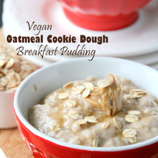 Oatmeal Cookie Dough Pudding (Vegan)