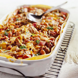 Bean-and-Beef Enchilada Casserole