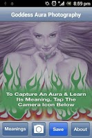 Screenshot of Goddess Aura Photography app