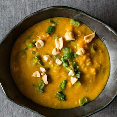 Yam and Peanut Stew with Kale