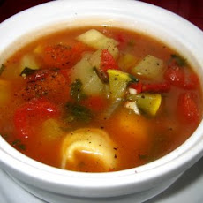 Vegetable Soup With Cheese Tortellini-one Of Our Favorite Soups!