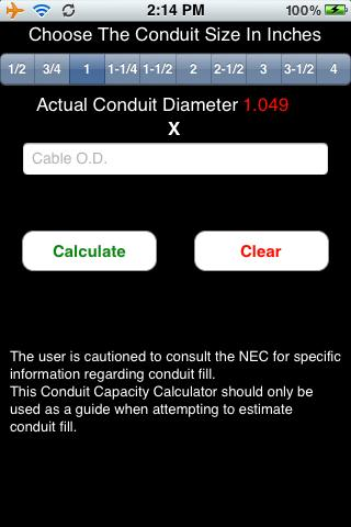 Conduit Capacity Calculator