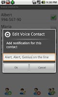 Screenshot of Voice Full Screen Caller id