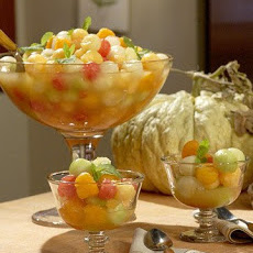 Melon Balls and Margarita Syrup