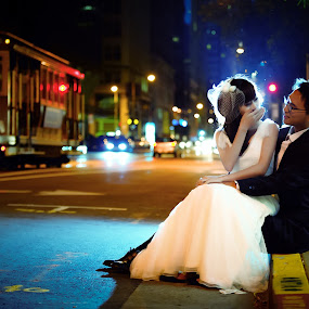 by Wenkan Zhu - Wedding Bride & Groom