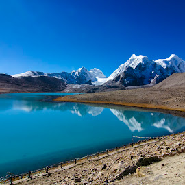Gurudongmar Lake at North Sikkim, India by Joybrata Chakraborty - Landscapes Mountains & Hills ( himalaya, lake, sikkim )