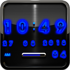 Blue Glow Magic Digital Clock