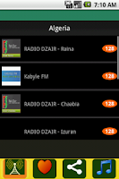 Screenshot of Radio Algeria