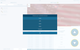 Screenshot of anyoption - Binary Options