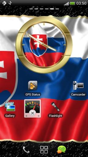 Slovakia flag clocks