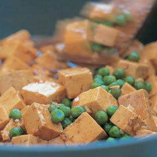 Spicy Tofu with Peas