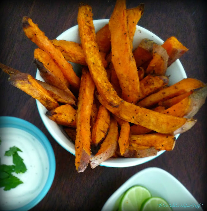 Cilantro Lime Baked Sweet Potato Fries Recipe | Yummly