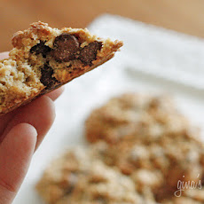 Low Fat Chewy Chocolate Chip Oatmeal Cookies