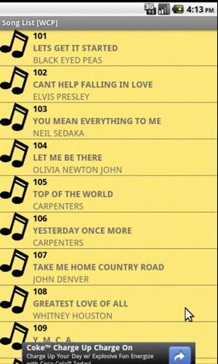 Song List [WCP]