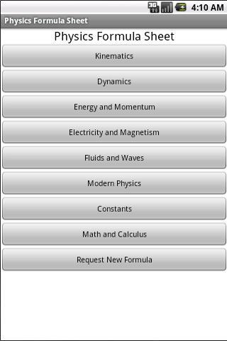 【免費教育App】Physics Formula Sheet-APP點子