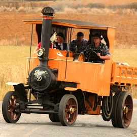 old timer by Aaron Stephenson - Transportation Other ( kiwi, clever, nz, glenbrook, steam driven, steam )