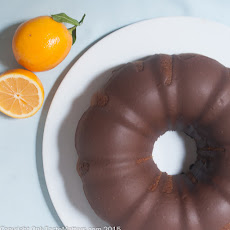 Meyer Lemon Bundt Cake with Chocolate Rum Icing