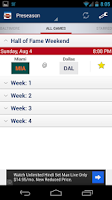 Screenshot of Football Schedule 2013