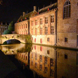 Bruges by Night by Ludwig Wagner - Instagram & Mobile iPhone
