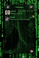 Screenshot of GO SMS PRO Matrix Theme