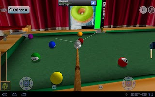 Screenshot of DroidPool 3D