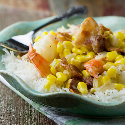 Creamy Shrimp with Bacon and Corn