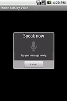 Screenshot of Write SMS by Voice LITE