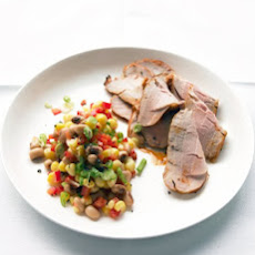 Roasted Pork with Black-Eyed-Pea Salad