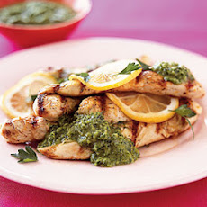 Grilled Lemon Chicken With Fresh Parsley Sauce