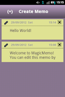 Screenshot of MagicMemo