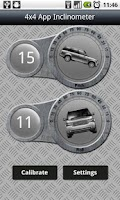 Screenshot of 4x4 App - offroad inclinometer