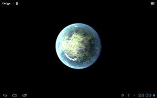 Screenshot of Planet Venus 3D Live Wallpaper