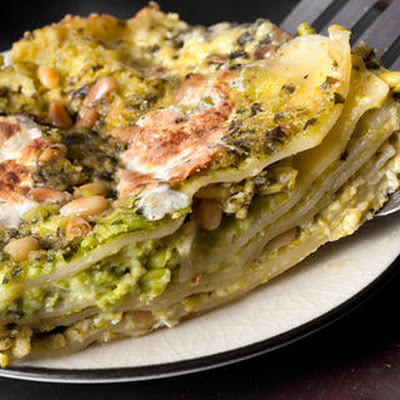 Pesto and Pea Lasagna