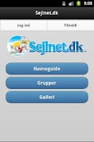 Screenshot of Sejlnet