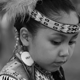 Thoughtful by Donna Green - Babies & Children Child Portraits ( indian, tribal, dance, powwow, native american )