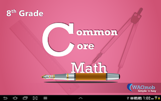 Screenshot of 8th Grade Common Core Math