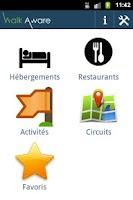 Screenshot of WalkAware