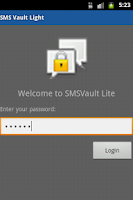 Screenshot of SMSVault Lite