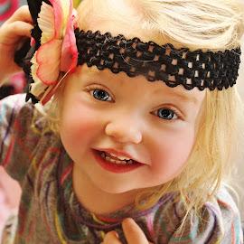 Black Flower Headband by Cheryl Korotky - Babies & Children Child Portraits (  )