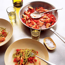 Salmon Pasta with Spicy Tomato Sauce