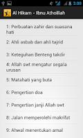 Screenshot of Kitab Al Hikam-Ibnu Athoillah