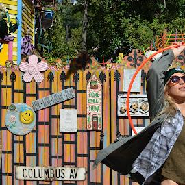 megha hoops by Mary Tkach - City,  Street & Park  Street Scenes ( nature, color, outdoors, hoop, randyland, hooper )