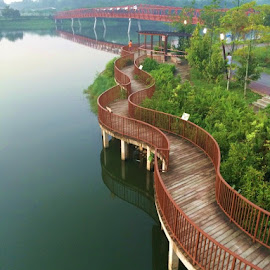 Walking Path by Koh Chip Whye - City,  Street & Park  City Parks (  )