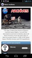 Screenshot of Nasa Archives