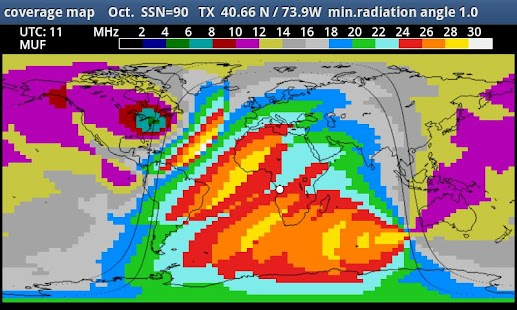 MyHF_Map HAM Radio  MUF maps- screenshot