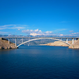 PAG BRIDGE by Nataša Topčić - Buildings & Architecture Bridges & Suspended Structures ( pag, blue, croatia, sea, bridge )