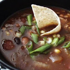 Crock Pot Beef, Bean & Bacon Soup