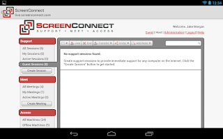 Screenshot of ScreenConnect